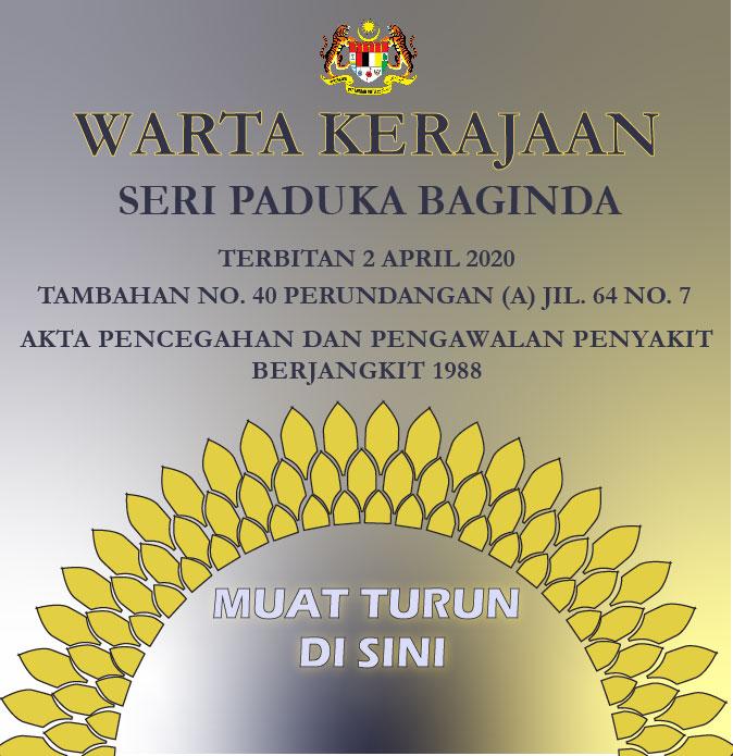 Warta Kerajaan PUA 112 – Terkini 2 Apr 2020