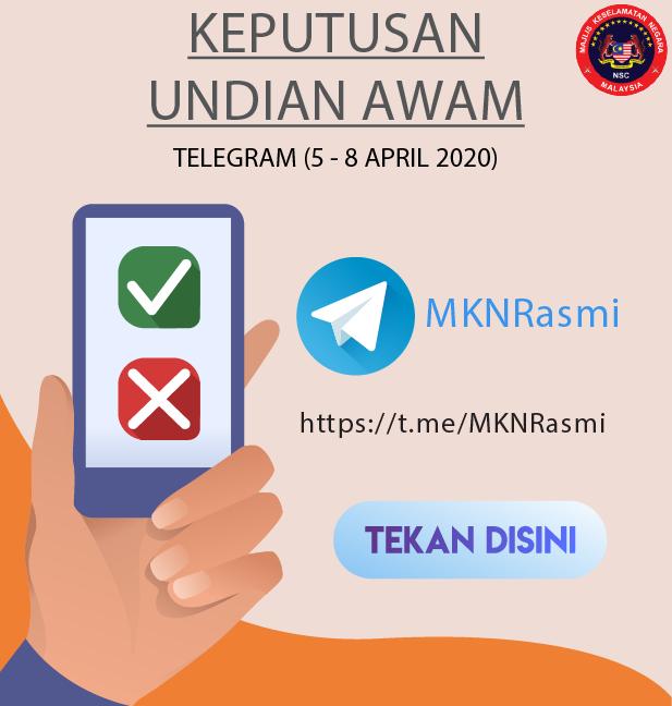 Keputusan Undian Awam Covid 5-8 April Telegram